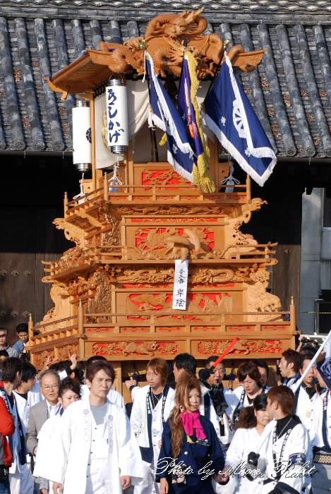 西条祭り2011 御殿前 岸陰だんじり(屋台・楽車) 伊曽乃神社祭礼