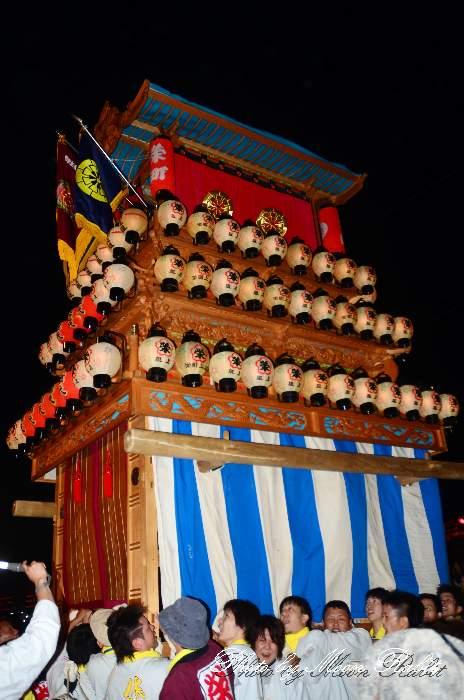 西条祭り2011 お旅所 栄町上組だんじり(榮町上組屋台・楽車) 伊曽乃神社祭礼