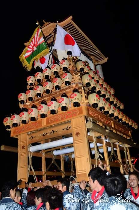西条祭り2011 お旅所 吉原三本松だんじり(屋台・楽車) 伊曽乃神社祭礼