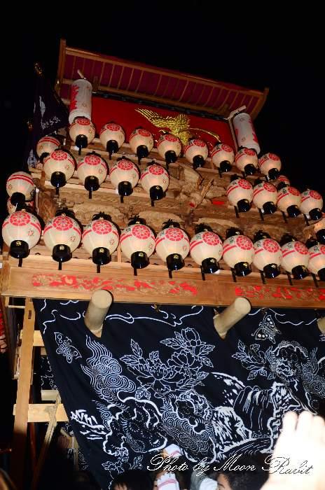 西条祭り2011 お旅所 北之町上組だんじり(北の町上組屋台・楽車) 伊曽乃神社祭礼
