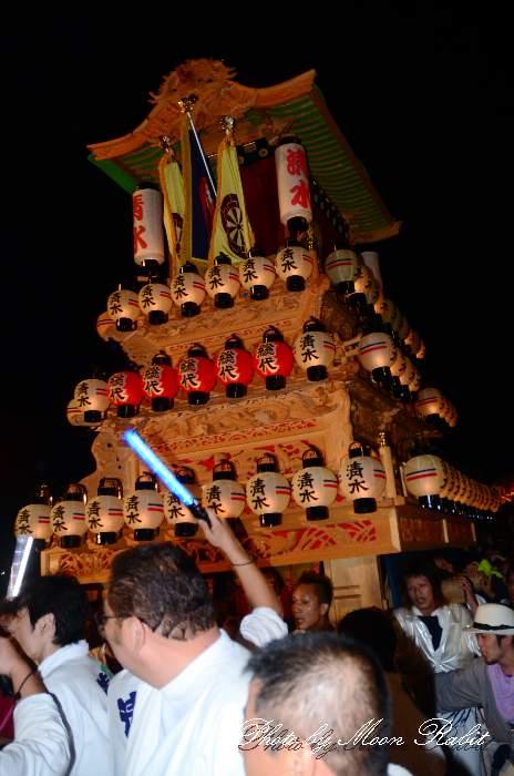 西条祭り2011 お旅所 清水町だんじり(屋台・楽車) 伊曽乃神社祭礼