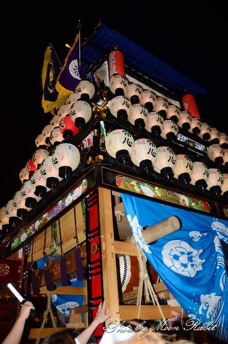 西条祭り2011 お旅所 常心上組だんじり(大南屋台・楽車) 伊曽乃神社祭礼