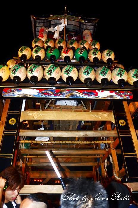 西条祭り2011 お旅所 奥之内だんじり(奥の内屋台・楽車) 伊曽乃神社祭礼