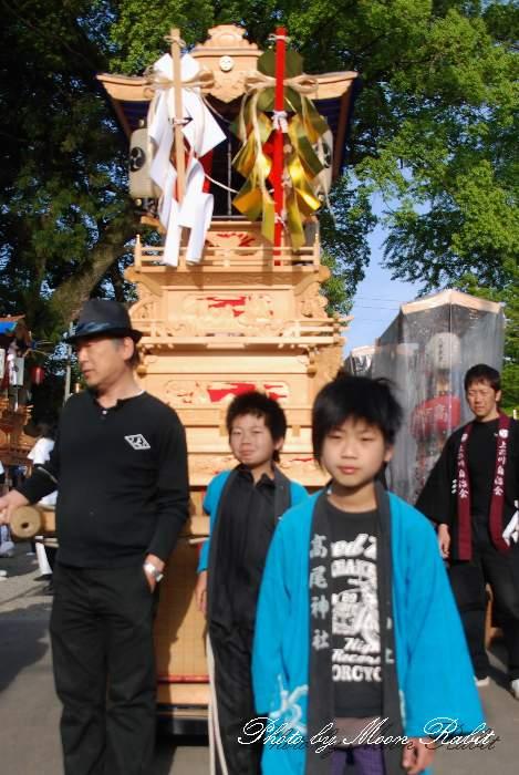 石岡神社例大祭関係2012 高尾神社春祭り2012 上之川子供だんじり(屋台・楽車) 西条市氷見