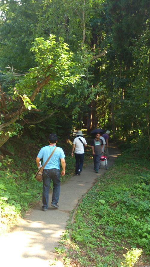 竜ヶ窪への遊歩道