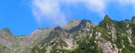 谷川岳 マチガ沢 トマの耳とオキの耳