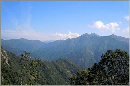 谷川岳 巌剛新道 折り返し地点の眺望