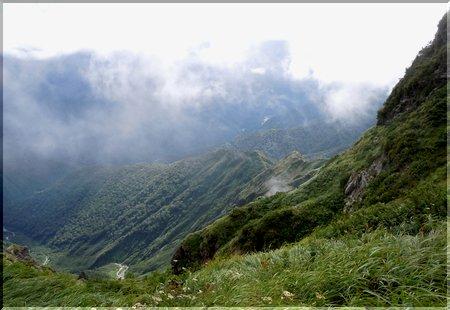 マチガ沢を覗き込む@谷川岳