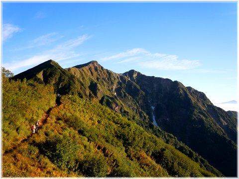 本日の目的地 布引岳と鹿島槍ヶ岳