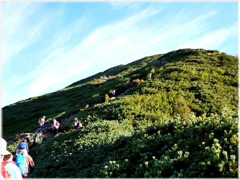 布引岳へのつづら登り