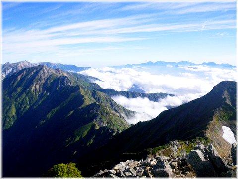 鹿島槍北峰とキレット