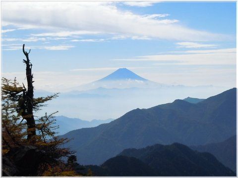 きれいな山です、富士