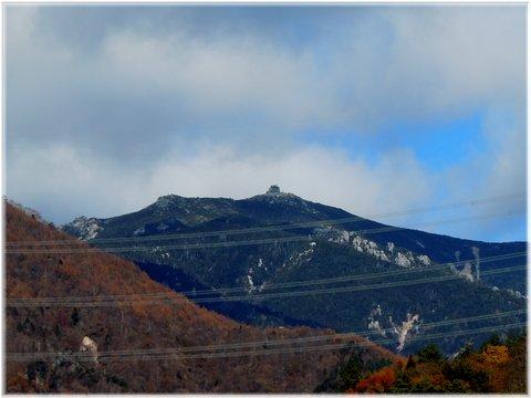 クリスタルラインから金峰山五丈岩