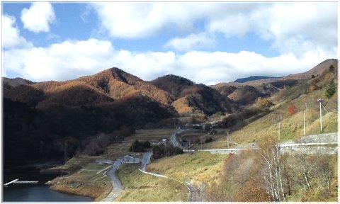 琴川ダムより金峰山方面
