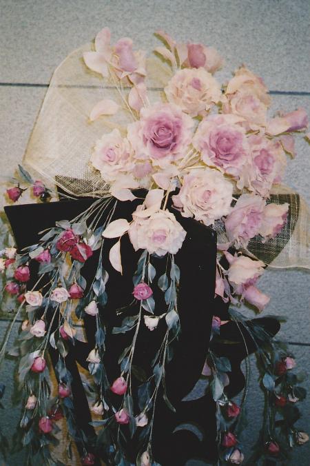 ブログ薔薇の装花1