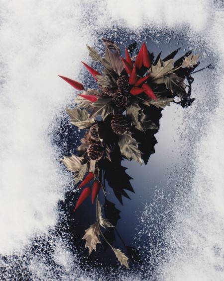 ブログ雪のクリスマス飾り
