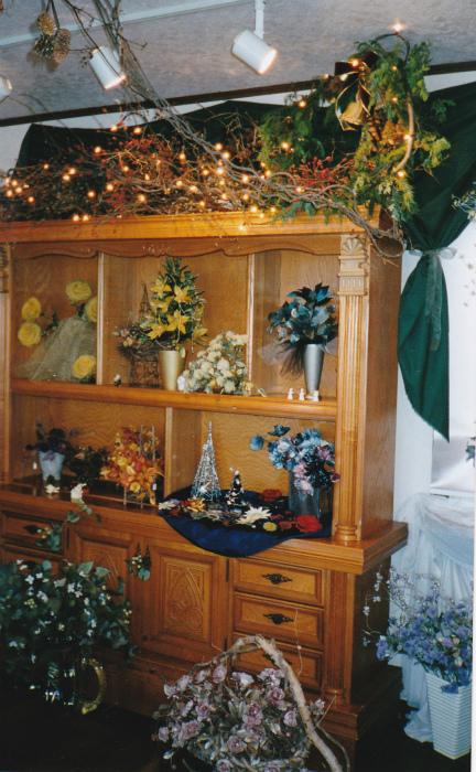 ブログクリスマスの飾り棚