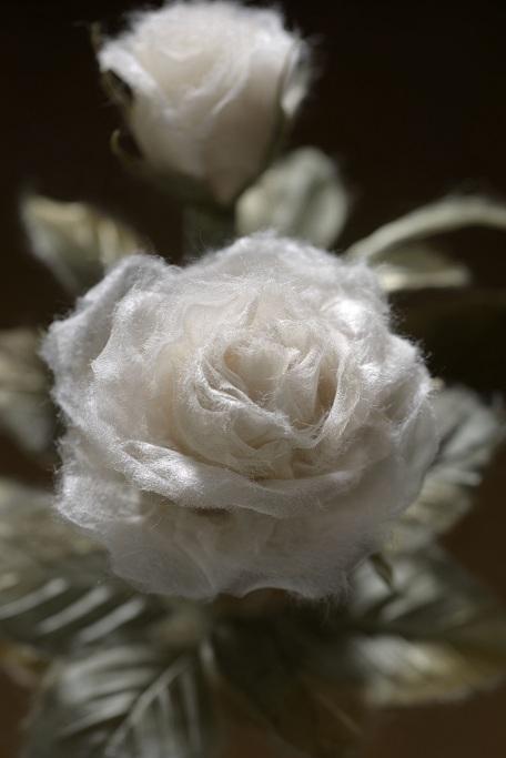 透ける和紙の薔薇2