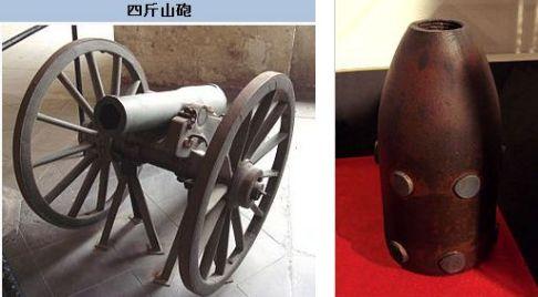 四斤山砲とその砲弾