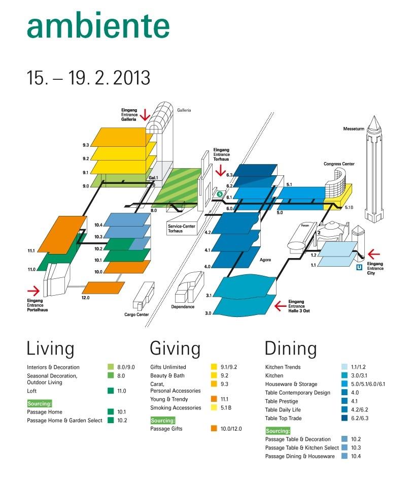 Ambiente Floor Plan 2013
