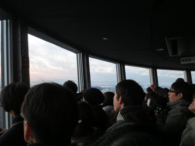 横浜マリンタワーで初日の出