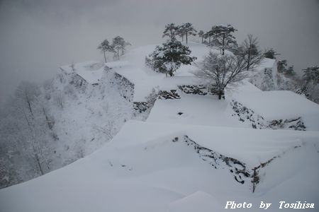 竹田城 雪