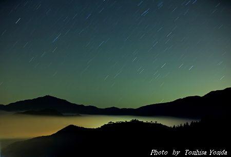 竹田城 夜空