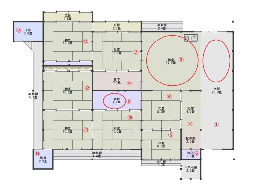 平面図6(現状・番号付き)