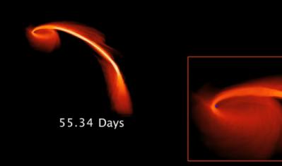 ブラックホールが星を飲み込む瞬間