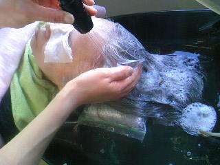 頭皮洗浄  2