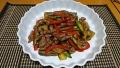 牛肉と夏野菜の炒め物 20180628