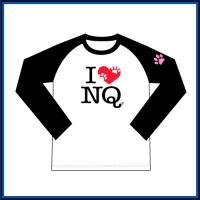 I LOVE NQ(アイ・ラブ・ニクキュウ)長袖ラグラン
