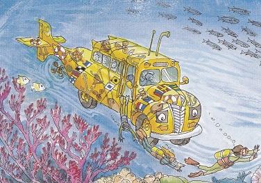 潜水艦にも変身するスクールバス