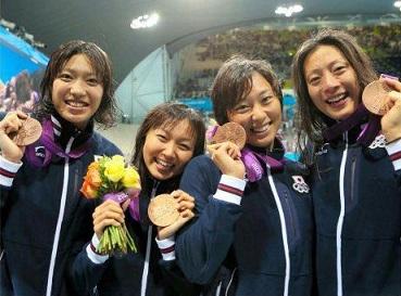 女子メドレーリレー銅メダル