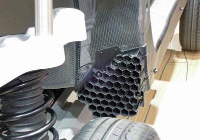 ハニカム構造の車体フレーム