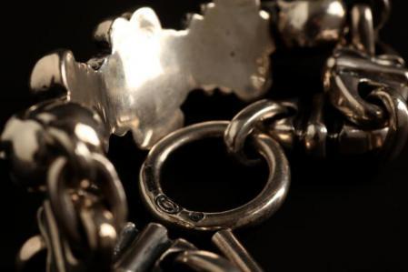 加伯,银饰,gaboratory,gabor,silver,bracelet,4heart,crown,skull,ガボラトリー,ガボール,シルバー,ブレスレット,4ハート,クラウン,スカル,