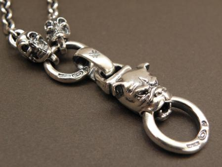 gaboratory,gabor,silver,necklace,skull,bulldog,ガボラトリー,ガボール,シルバー,ネックレス,スカル,ブルドッグ