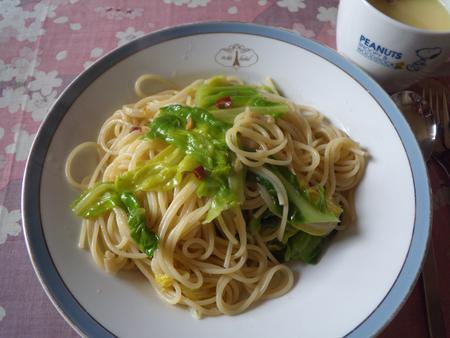 2春キャベツとアンチョビのスパゲティランチ