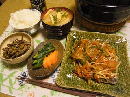 2揚げいわしの野菜あんかけ定食