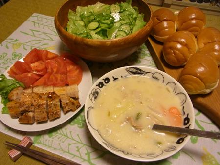 4二晩目のクリームシチュー定食