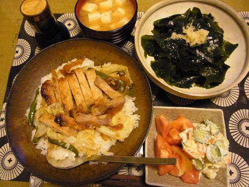 7味噌豚野菜炒め丼定食