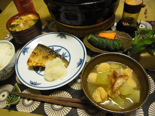 10加賀太きゅうりと帆立の煮物定食