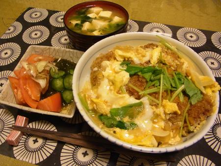 1カツ丼定食