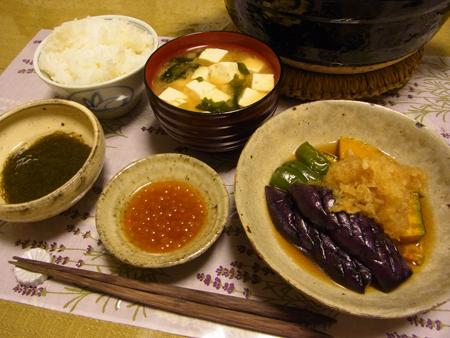4夏野菜の揚げびたし定食