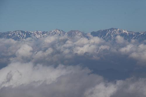 雲海と北アルプス1
