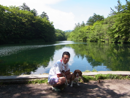雲場池で記念写真