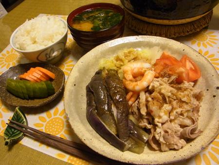 4冷しゃぶ&蒸し野菜定食