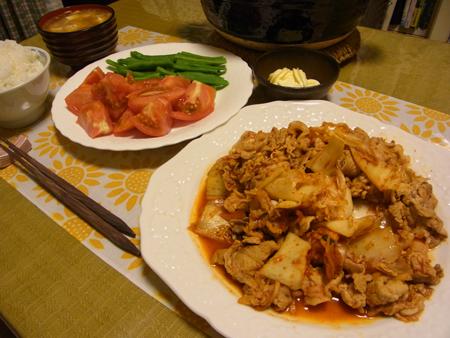3豚キムチ定食