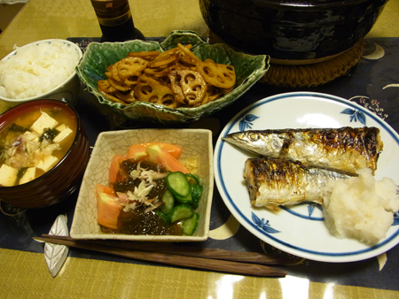 3秋刀魚定食
