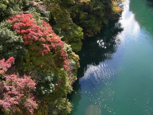 湖面と紅葉